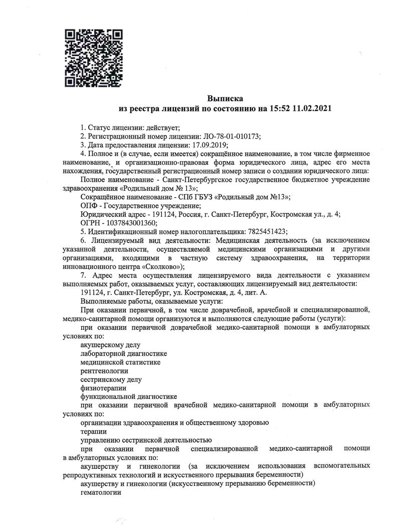 Лицензия 2021